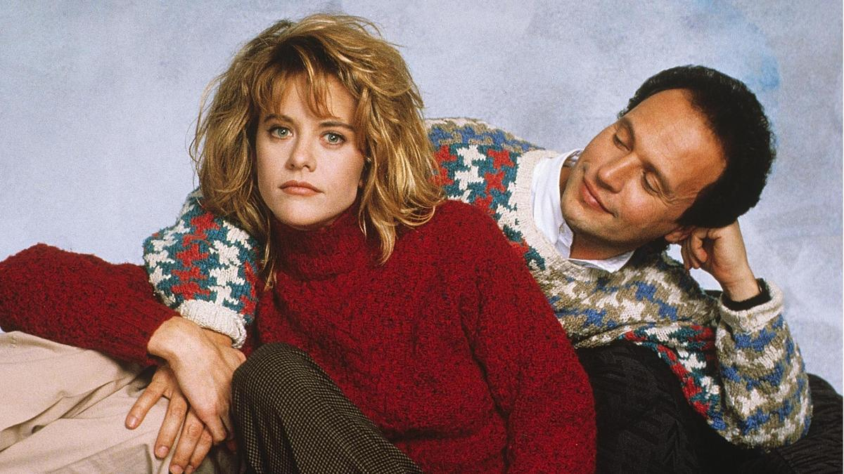 Billy Crystal and Meg Ryan pose for a promotional photo.