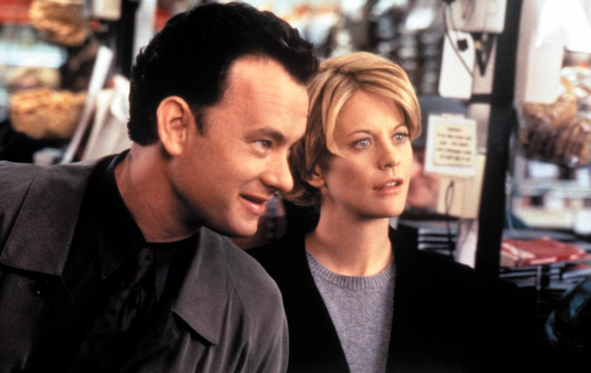 Tom Hanks and Meg Ryan act in You've Got Mail.