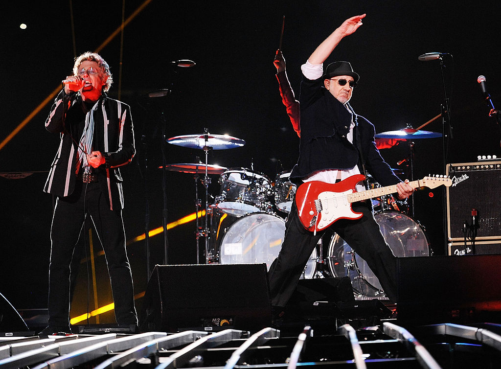 The Who performs at the Super Bowl.