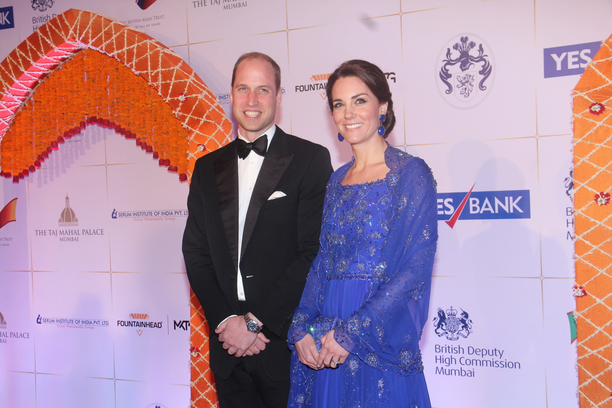Prince William, Duke of Cambridge, and Catherine, Duchess Of Cambridge, attend a Bollywood-inspired charity gala dinner.