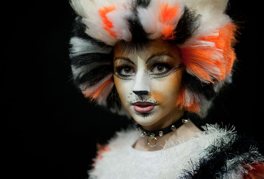 a woman dressed as a cat from the broadway musical cats
