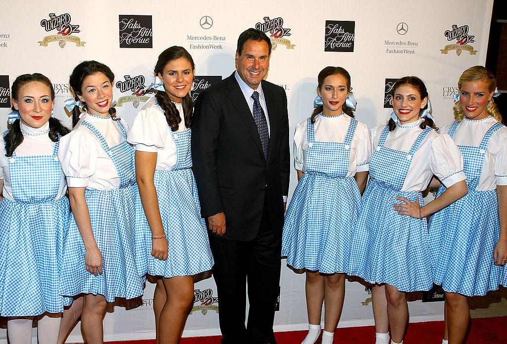 six girls dressed as dorothy from the wizard of oz