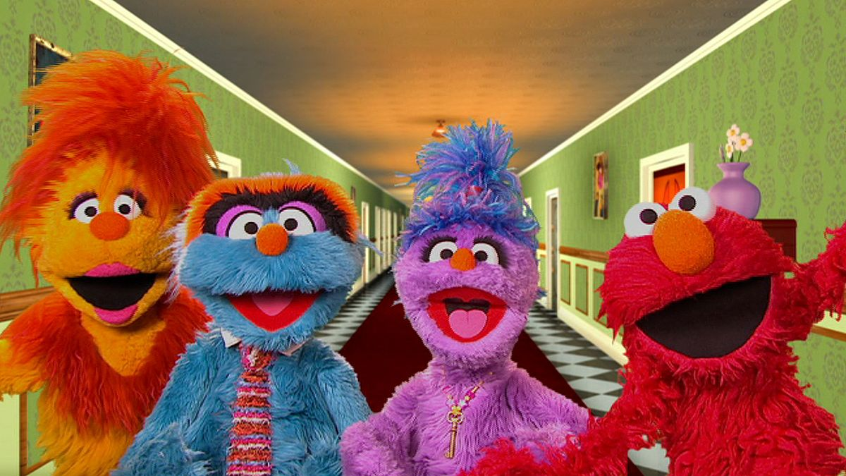 Elmo and the Furchesters are seen in the show The Furchester Hotel.