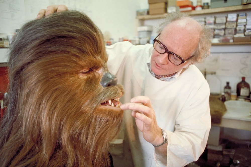 Chewie And His Makeup Artist