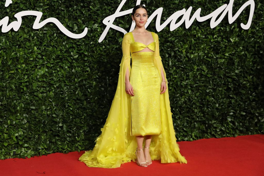 Emilia Clark At The 2019 Fashion Awards In London