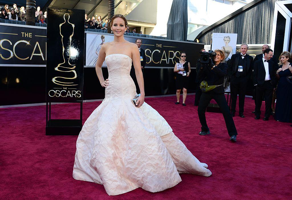 Jennifer Lawrence At The 2013 Oscars Ceremony
