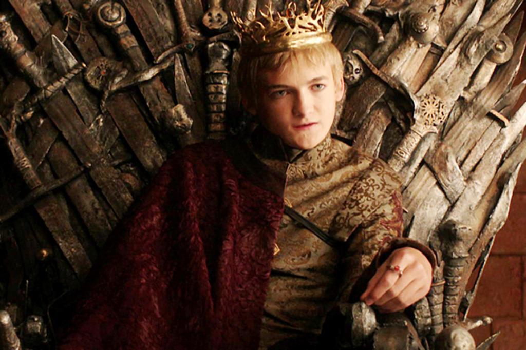 Joffery on the Iron Throne