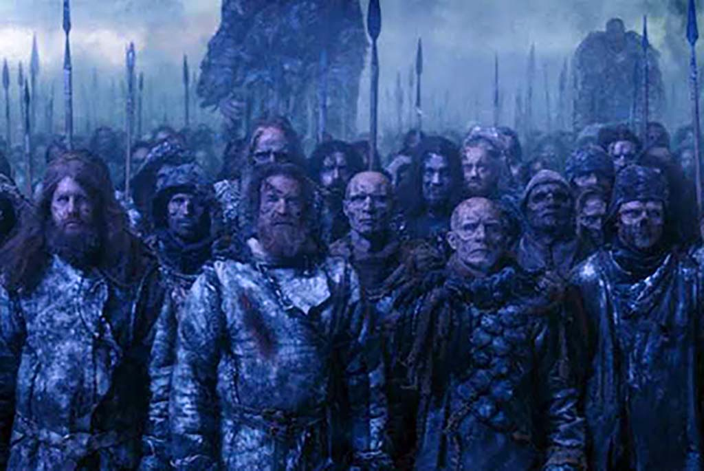 Mastodon as wights in army