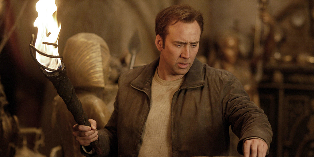 Nicolas Cage with torch