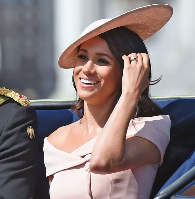 Meghan Markle During The Trooping The Colour In 2018