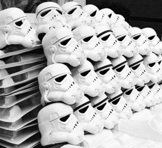 Stormtrooper Helmets Ready For The Extras