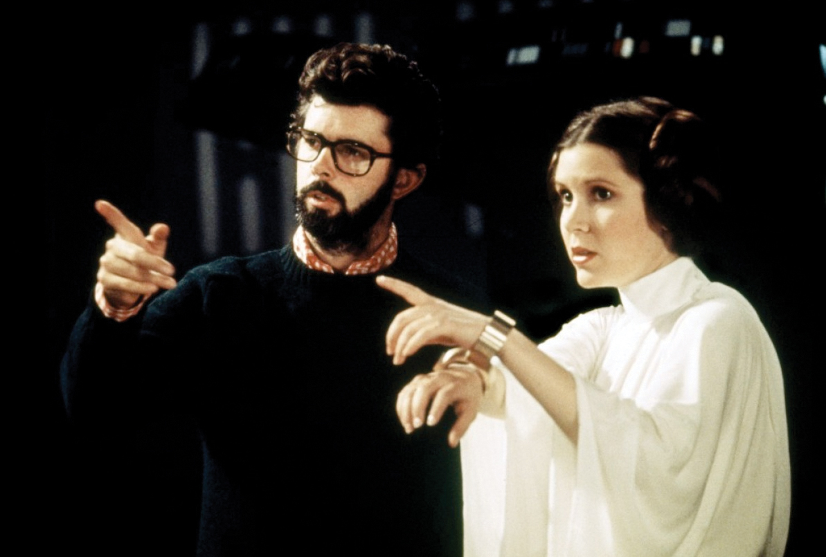 George Lucas Directing Carrie Fisher During Her Imprisonment