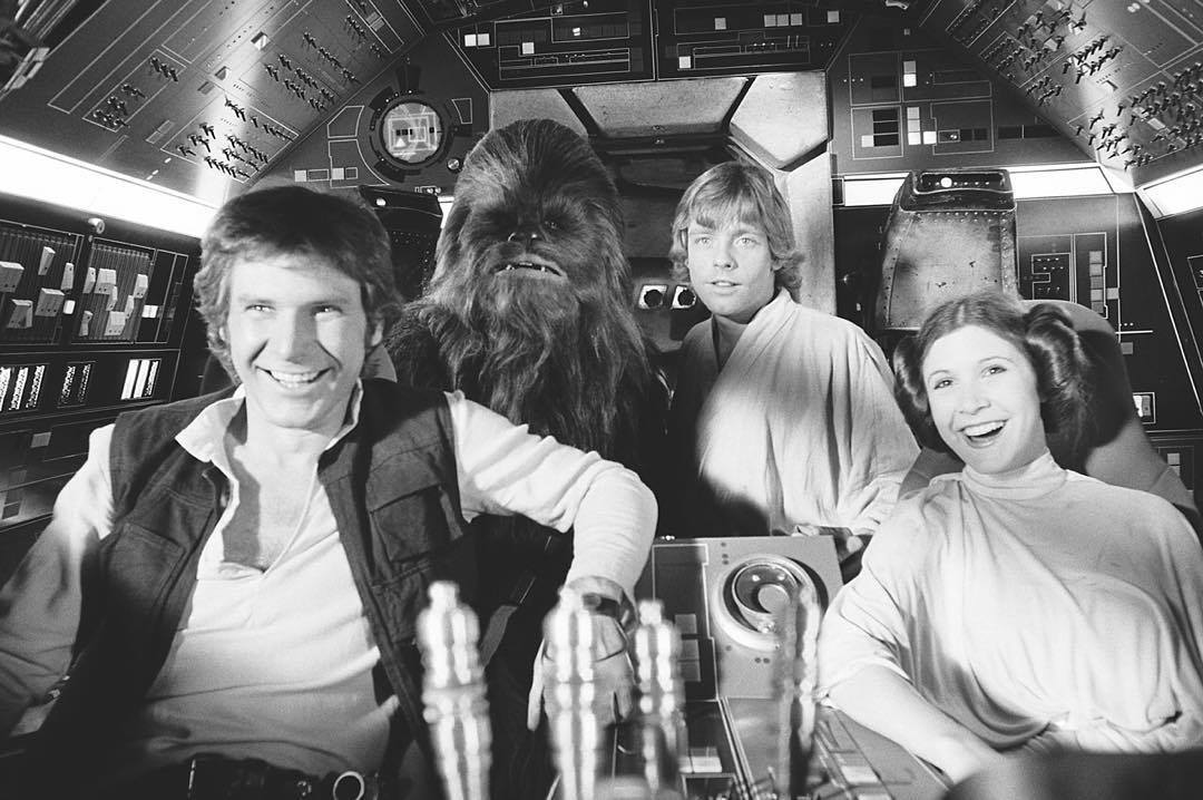 The Gang In The Millennium Falcon