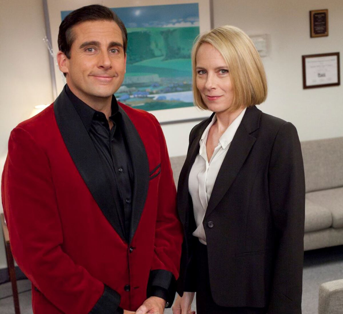 Michael Scott and Holly