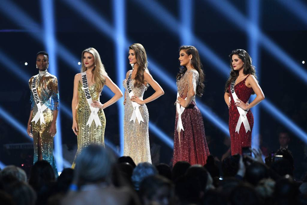 final miss universe contestants on the stage
