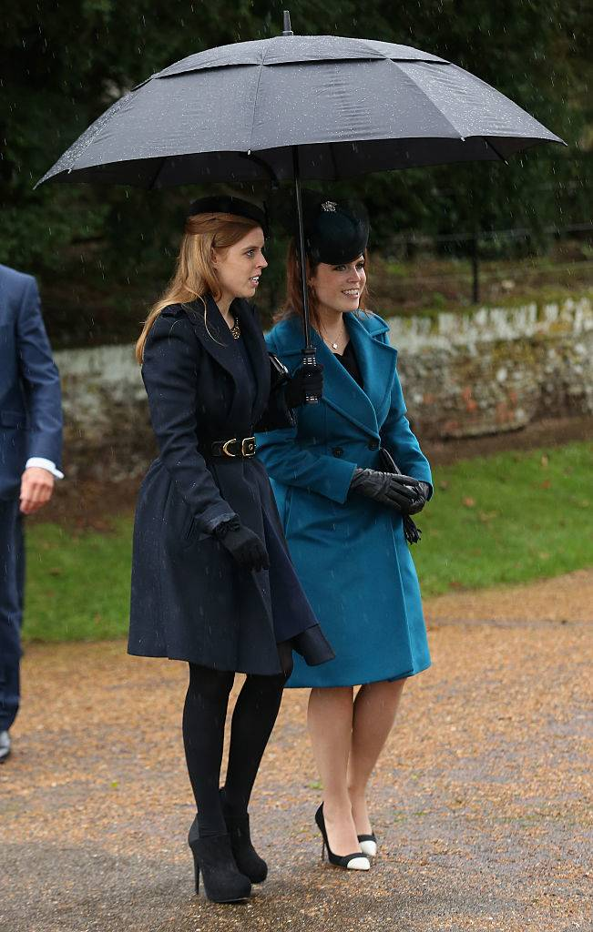 Princess Beatrice and Princess Eugenie attends a Christmas Day church service
