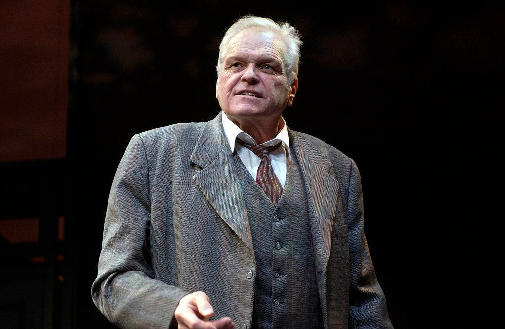 Brian Dennehy (as Willy Loman) in the production Death of a Salesman