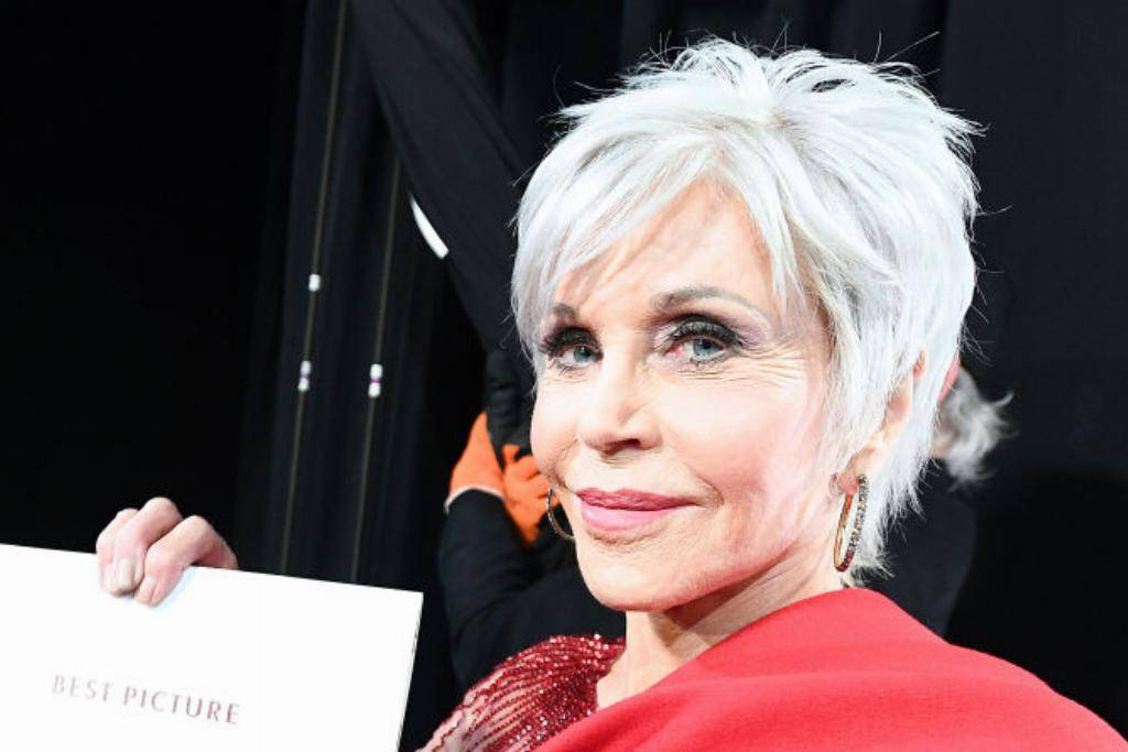 Jane Fonda with white hair
