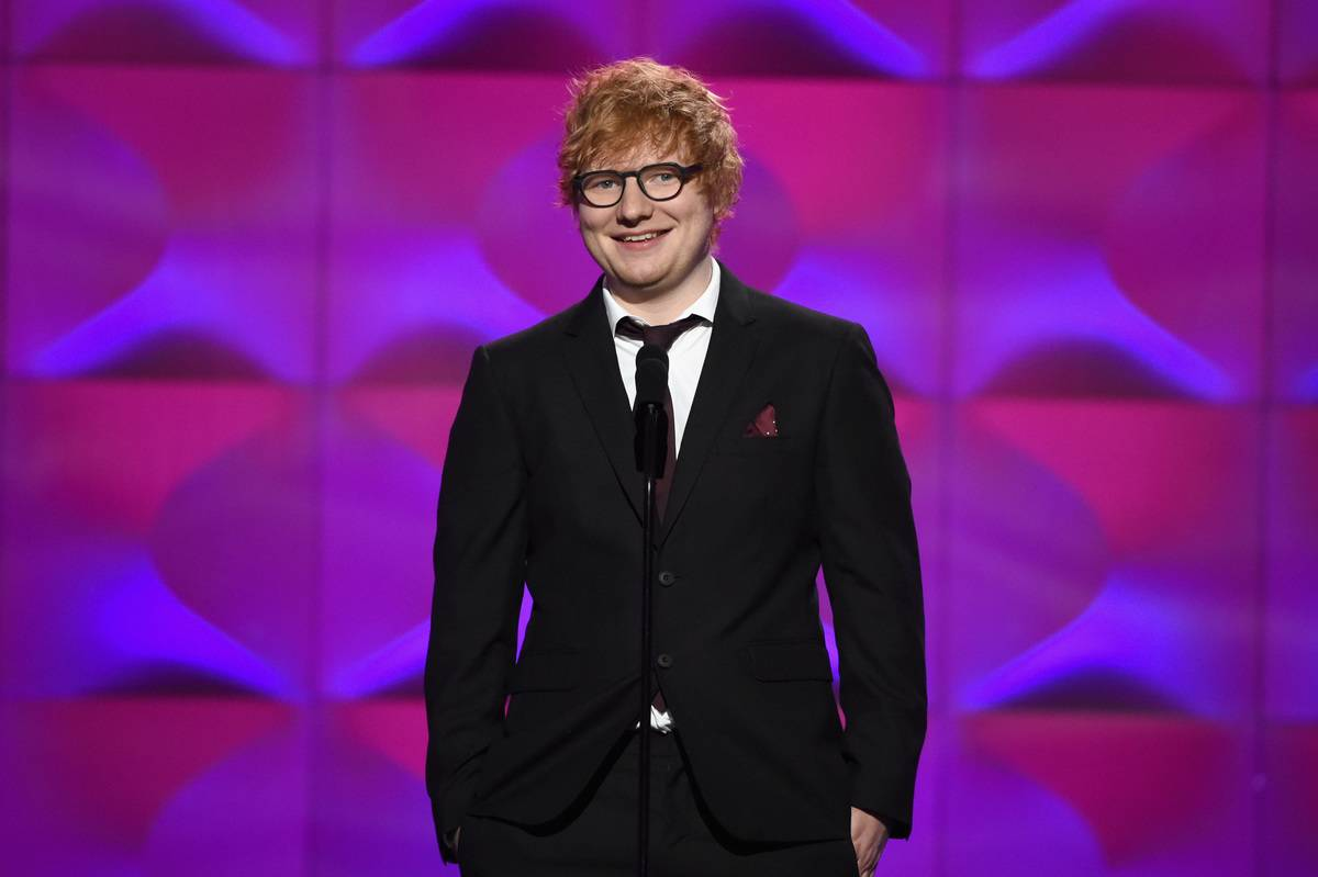 Ed Sheeran Is Gardening