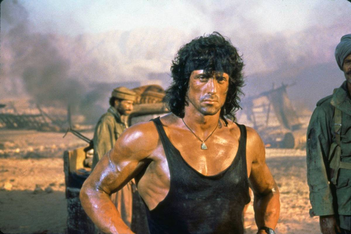 Stallone in Rambo III