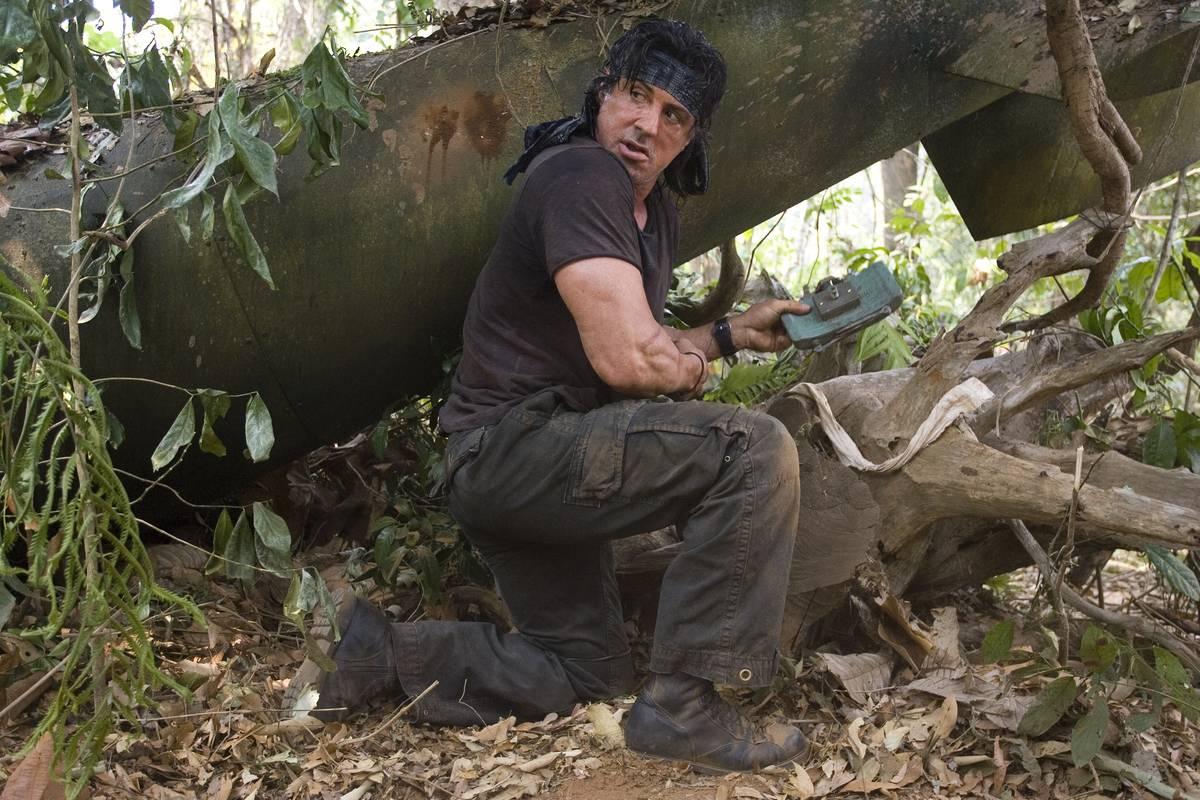 Rambo setting up a bomb