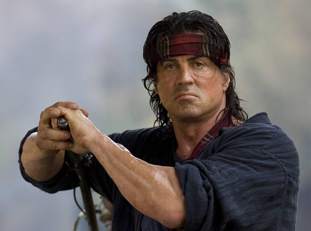 Rambo on a boat