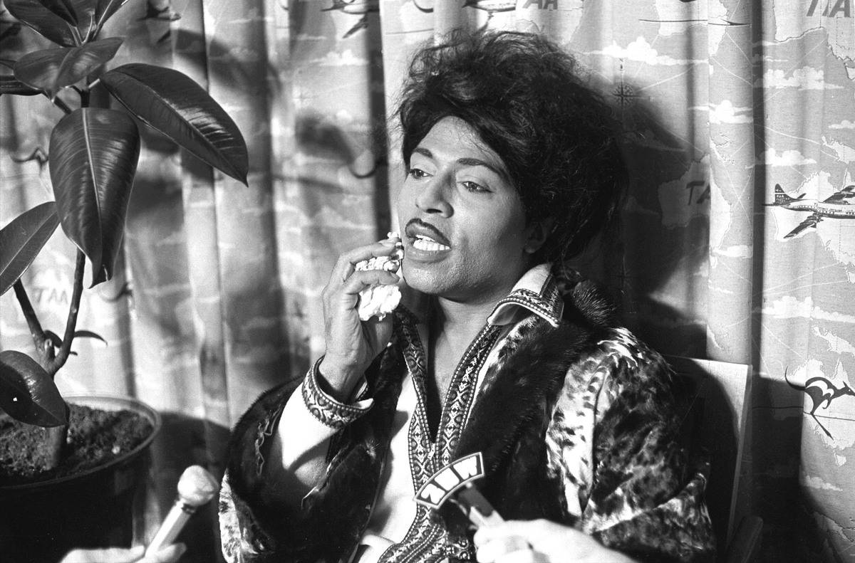 Entertainer Little Richard arriving in Sydney on 13 January 1974