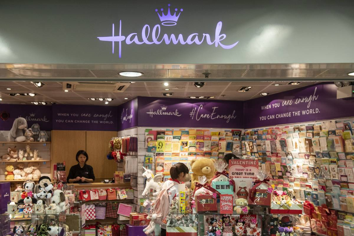 American Hallmark Cards store seen in Hong Kong...