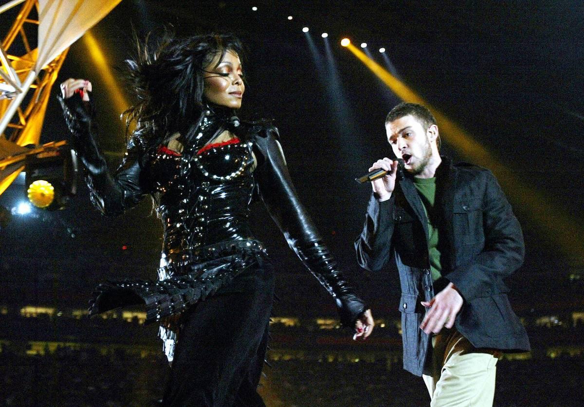 Janet Jackson's Wardrobe Malfunction During Halftime - 2004