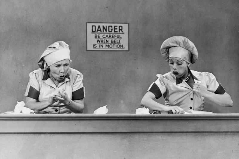 Lucy Vs. Candy Conveyor Belt - 1952