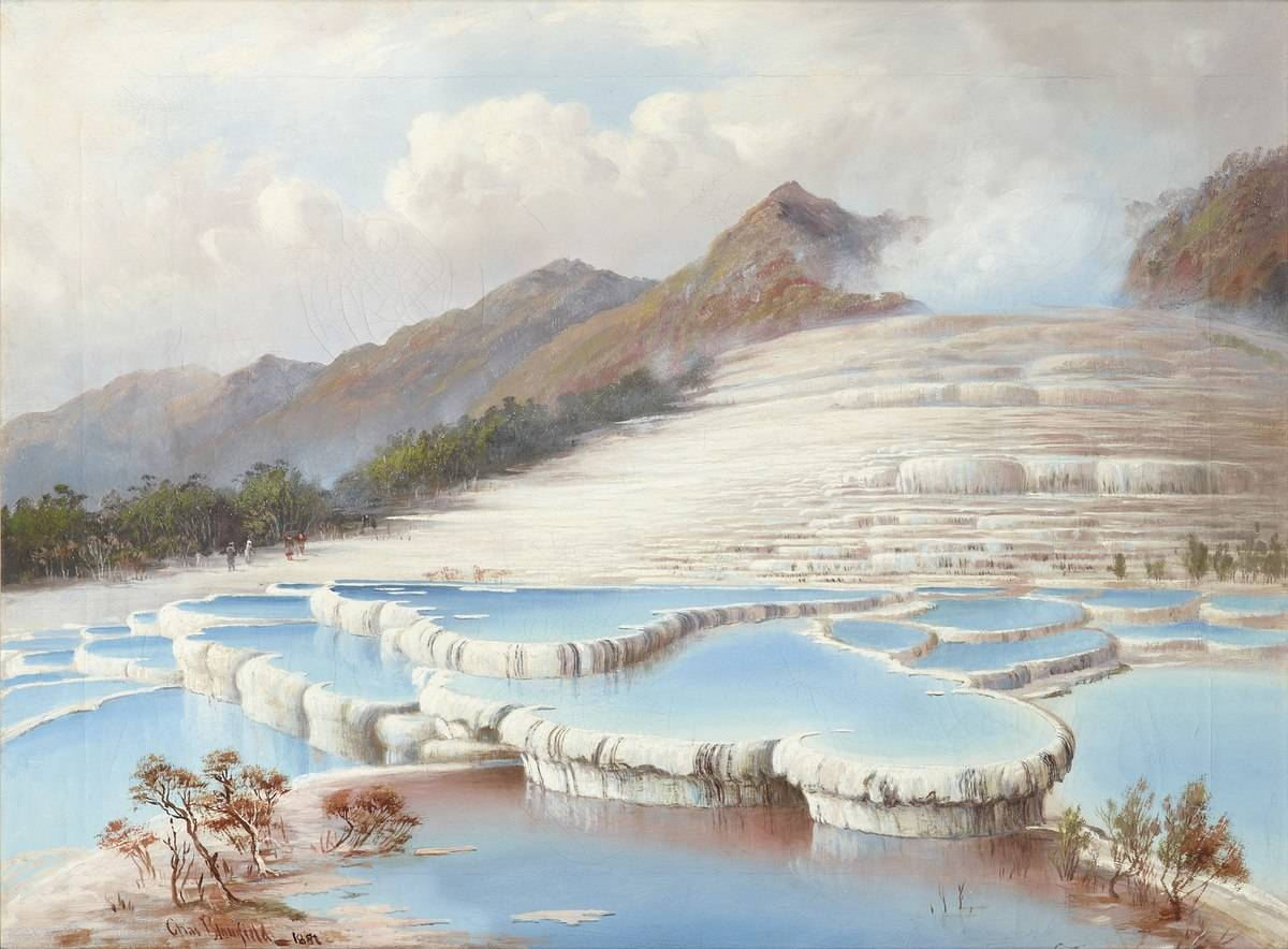 The Pink and White Terraces of New Zealand