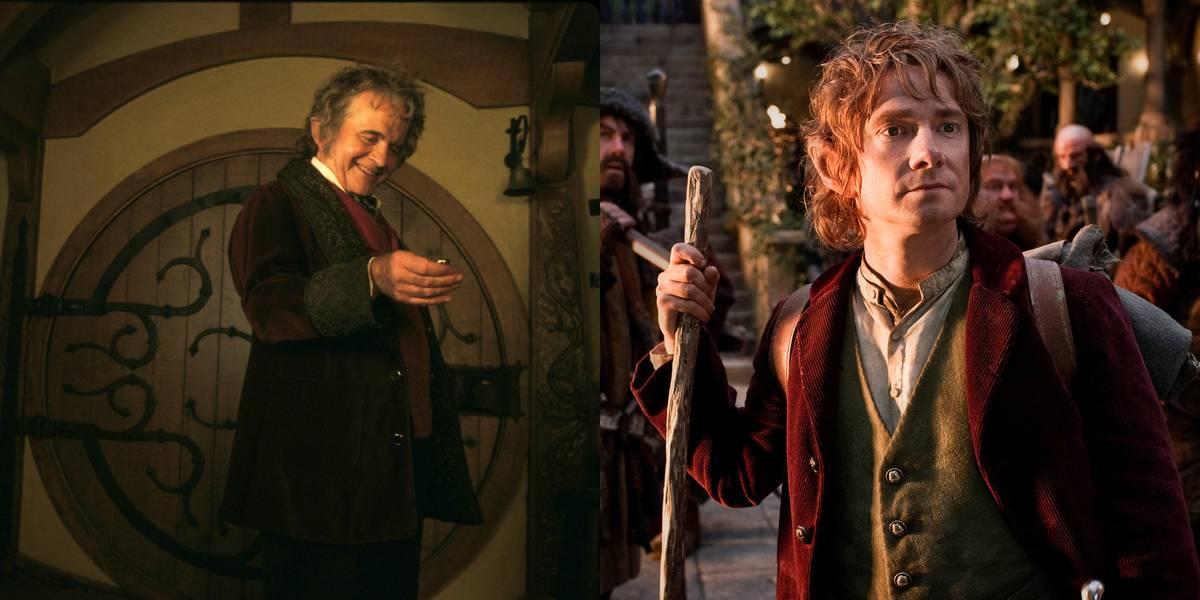 Ian Holm And Martin Freeman -- Bilbo Baggins