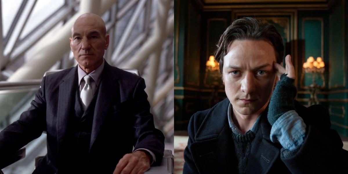 Sir Patrick Stewart And James McAvoy -- Professor Xavier