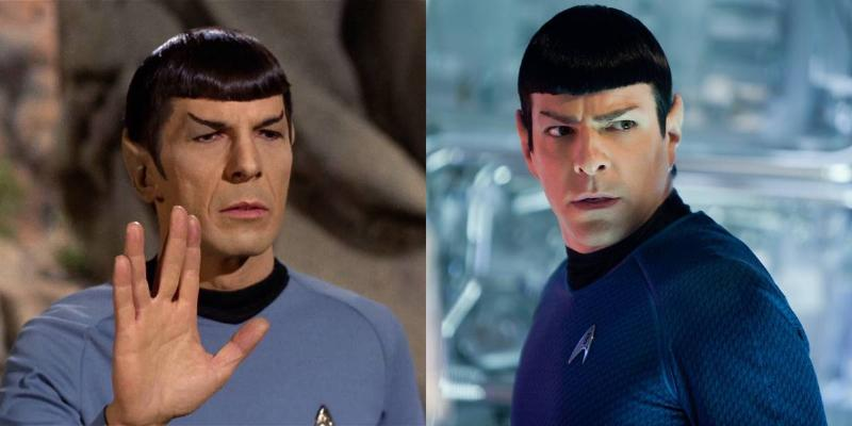 Leonard Nimoy And Zachary Quinto -- Spock