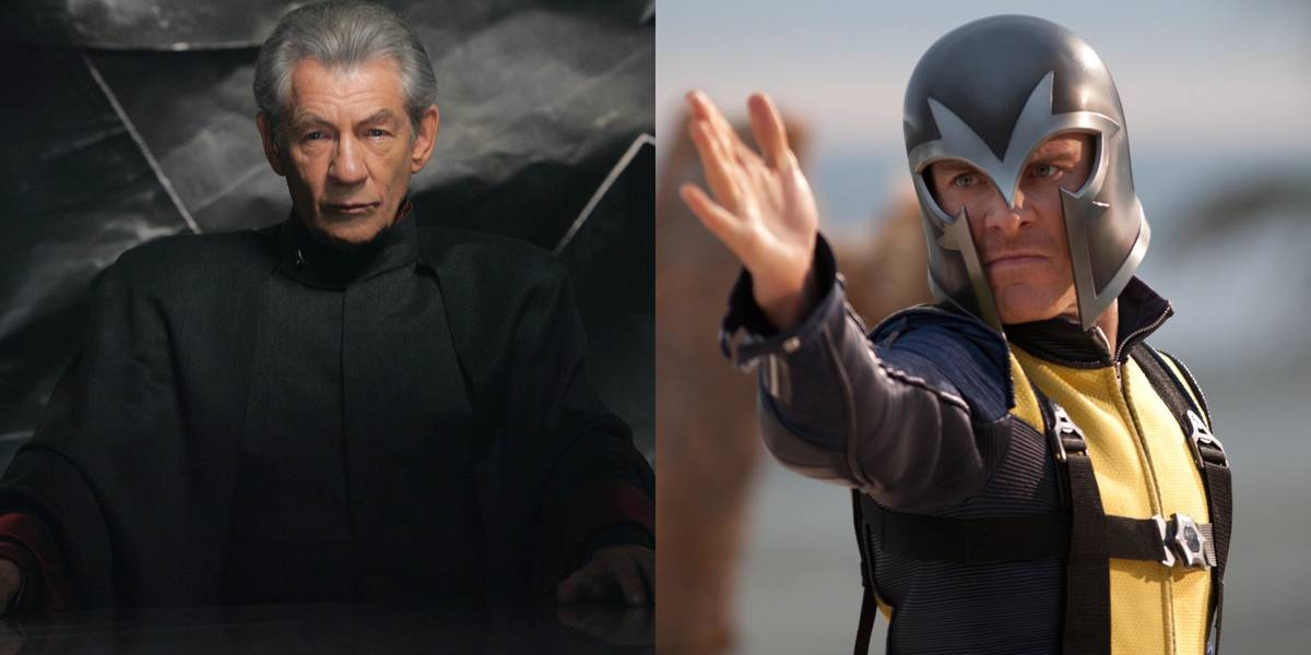 Sir Ian McKellan And Michael Fassbender -- Magneto