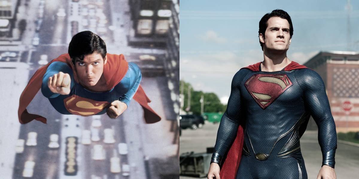 Christopher Reeve And Henry Cavill -- Clark Kent/Superman