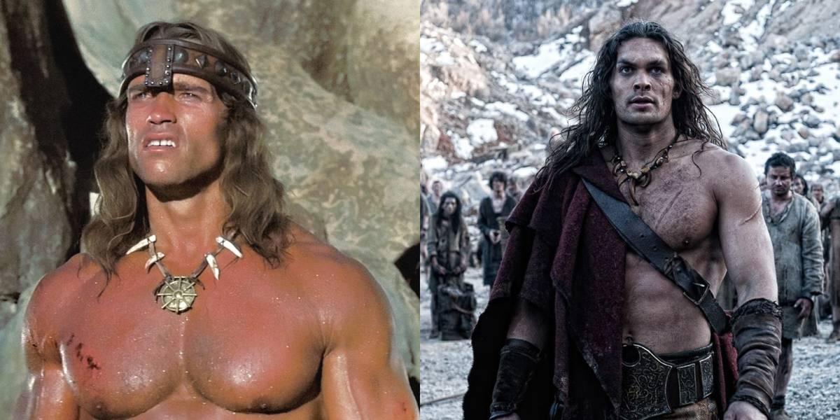 Arnold Schwarzenegger Vs. Jason Momoa -- Conan