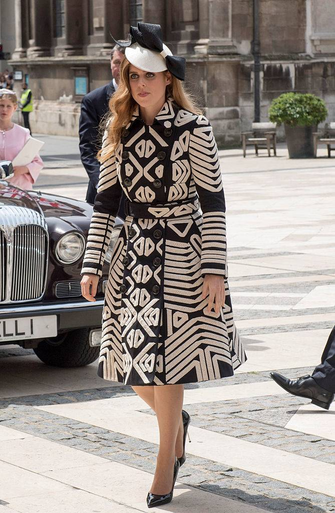 Princess Beatrice attends a lunch after the National Service of Thanksgiving as part of the 90th birthday celebrations for The Queen