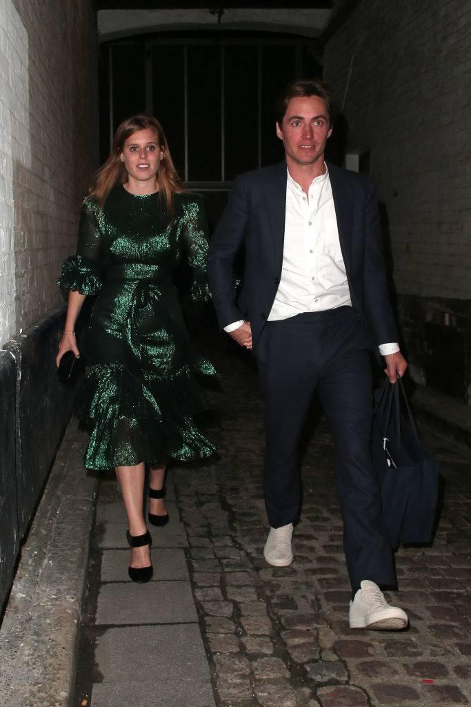 Princess Beatrice of York and Edoardo Mapelli Mozzi seen attending The Dior Sessions
