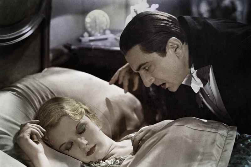 : Bela Lugosi and Helen Chandler in