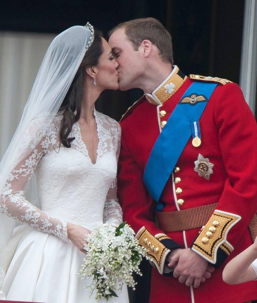 Catherine, Duchess of Cambridge and Prince William, Duke of Cambridge on the balcony