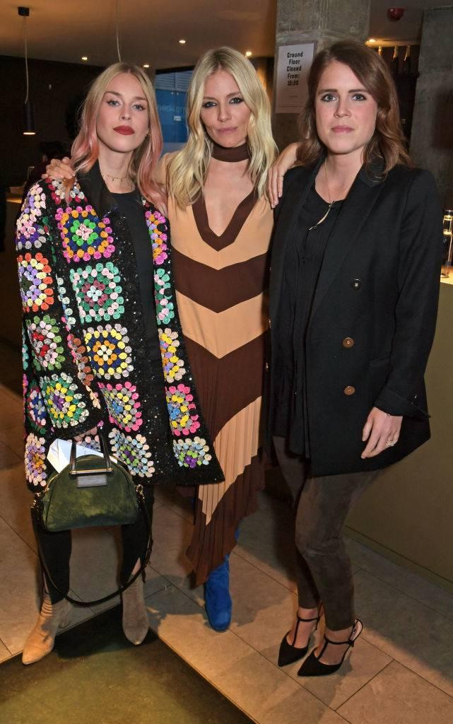 Mary Charteris, Sienna Miller and Princess Eugenie