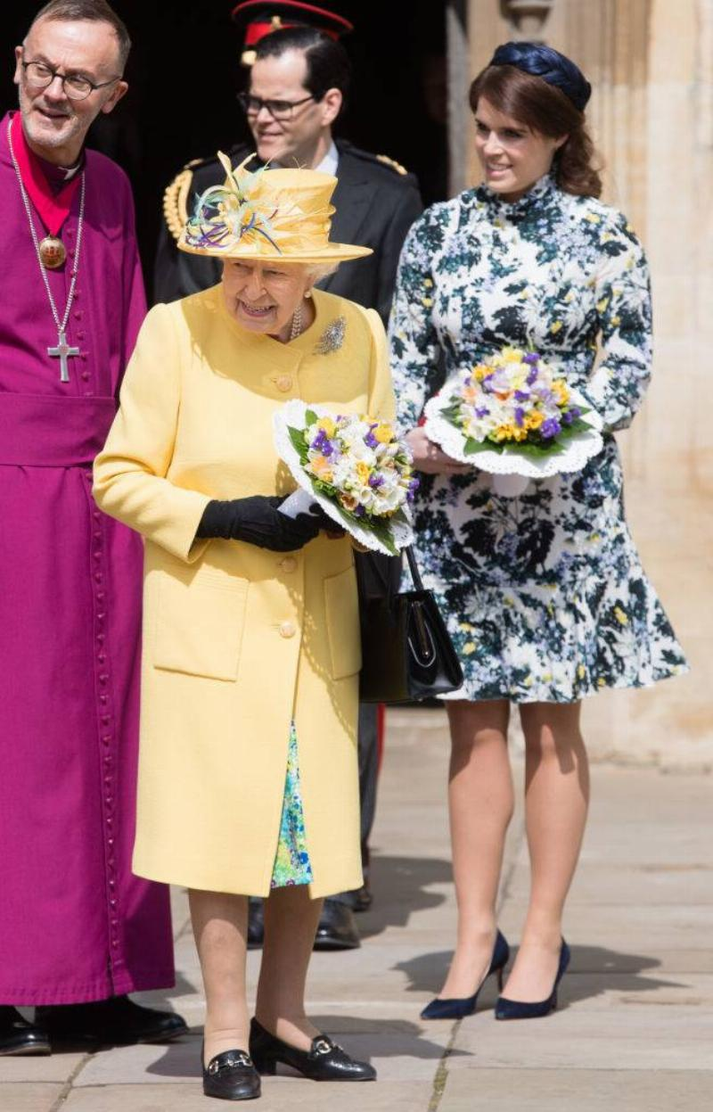 Queen Elizabeth II and Princess Eugenie of York attend the traditional Royal Maundy Service
