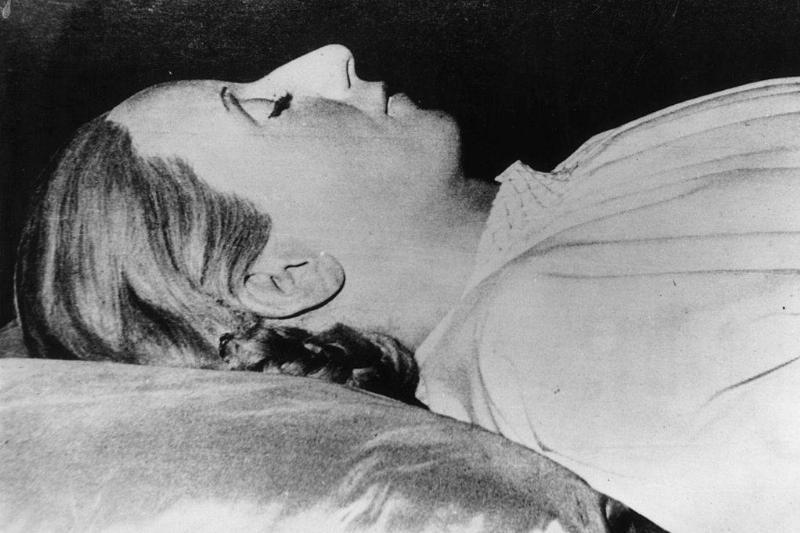 The embalmed body of Argentinian politician Eva Peron