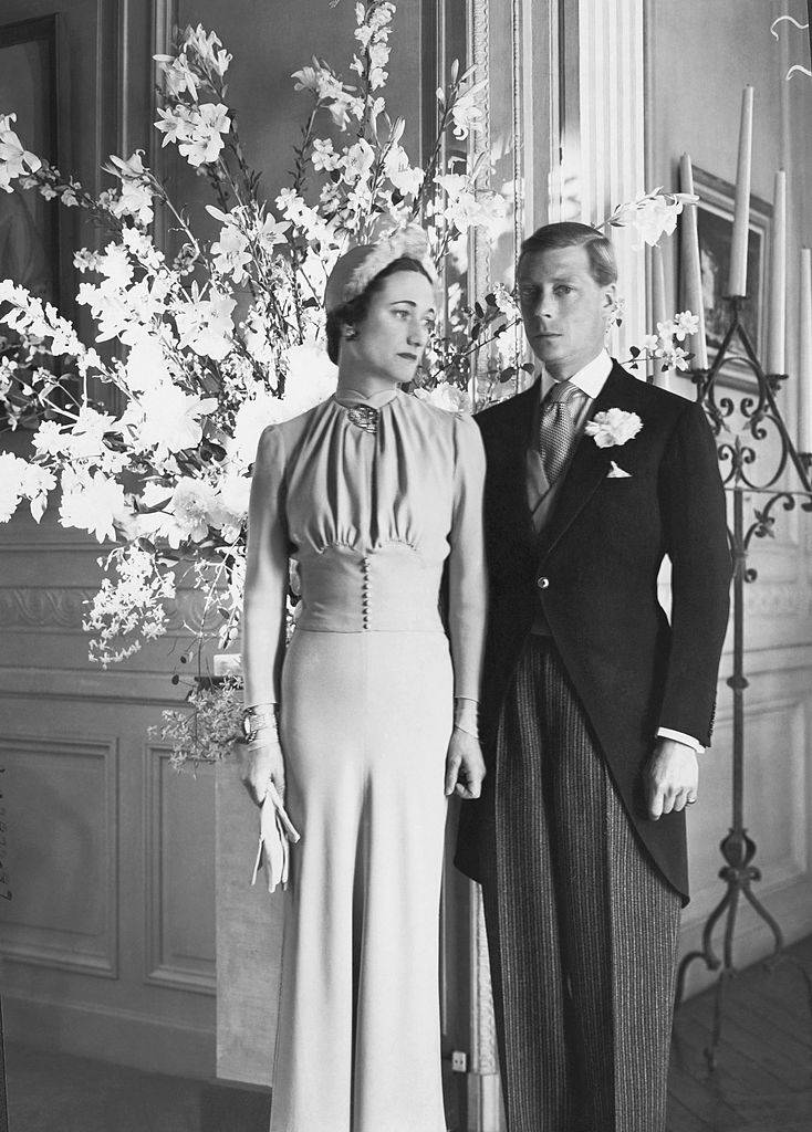 The Duke and Duchess of Windsor at the Chateau de Cande pose for a portrait after their wedding