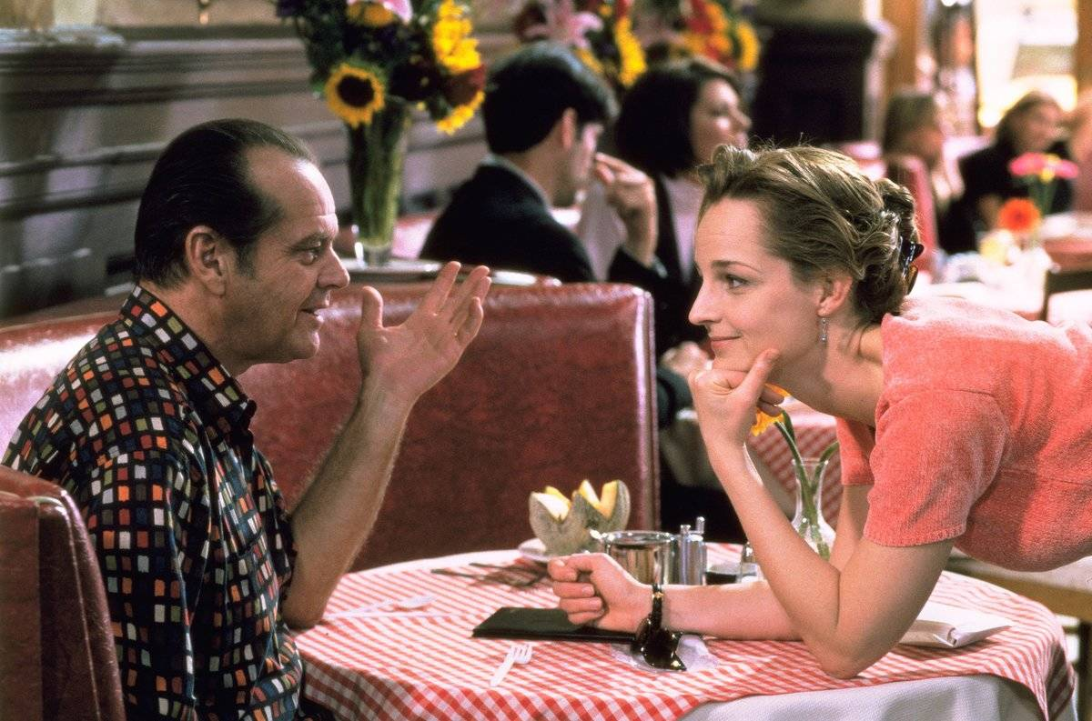 Jack Nicholson and Helen Hunt in a restaurant in as good as it gets
