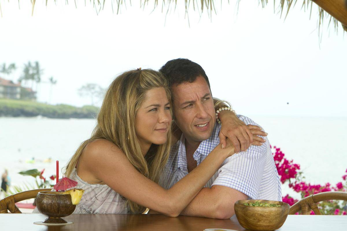 jennifer aniston and adam sandler in just go with it