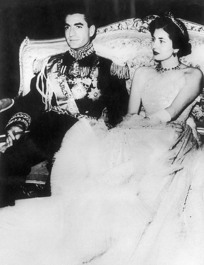 Wedding of Mohammad Reza Shah Pahlavi with his second wife Soraya Esfandiary-Bakhtiari