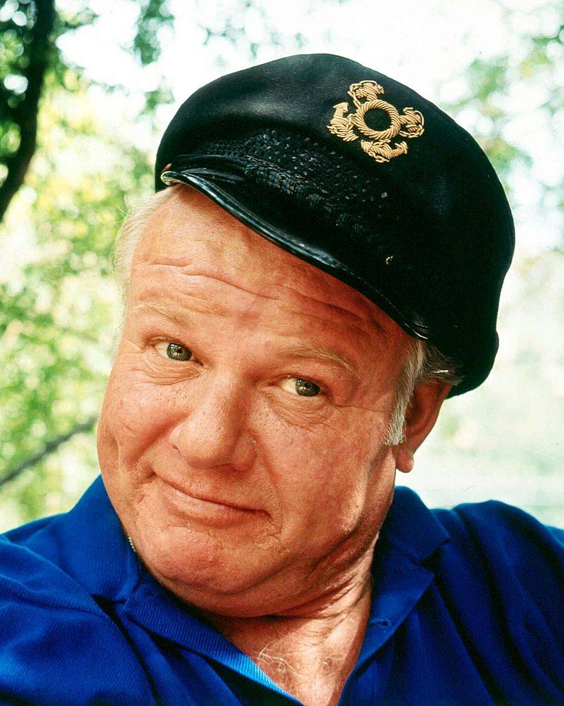 Headshot of Alan Hale Jr, US actor, in a publicity portrait for the television series 'Gilligan's Island'