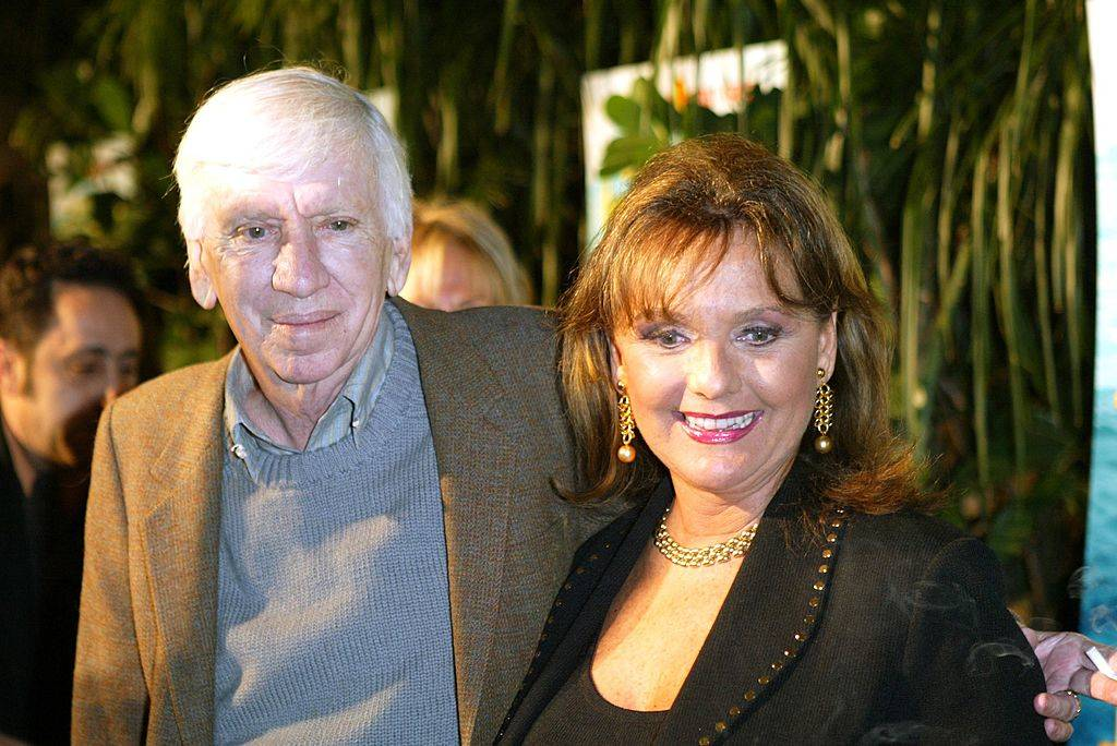 Actress Dawn Wells and actor Bob Denver arrive at the launch party for